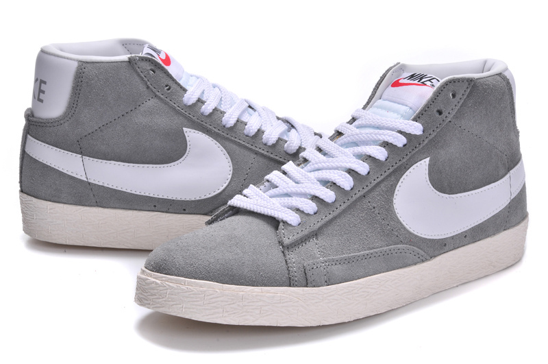 Nike Blazer 1 High Grey White Women's Shoes