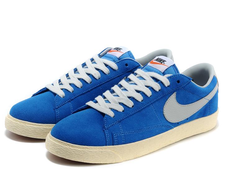Nike Blazer 1 Low Blue White DC Shoes