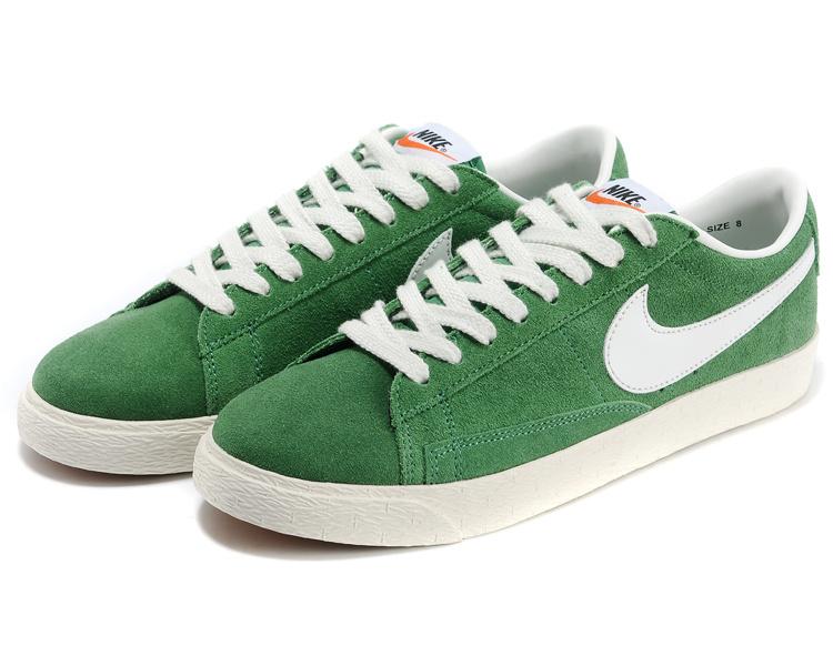 Nike Blazer 1 Low Green White Shoes