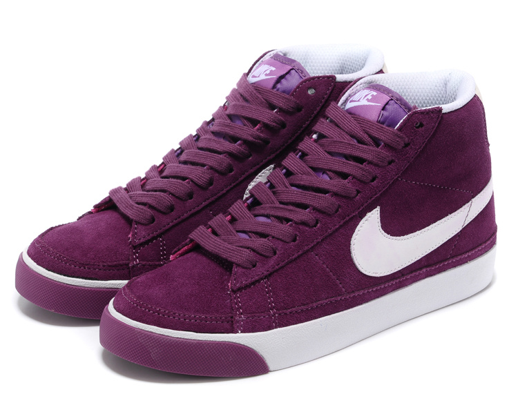 Nike Blazer 2 High Suede 1689 Red Purple White Women's Shoes
