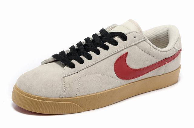Nike Blazer 3 Low Cream Coloured Red Black Shoes