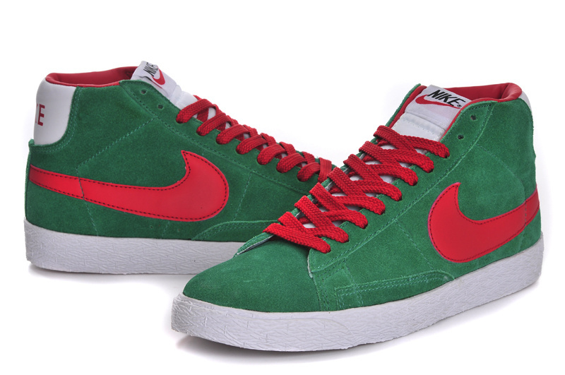 Nike Blazer High Green Red Women'ss Shoes