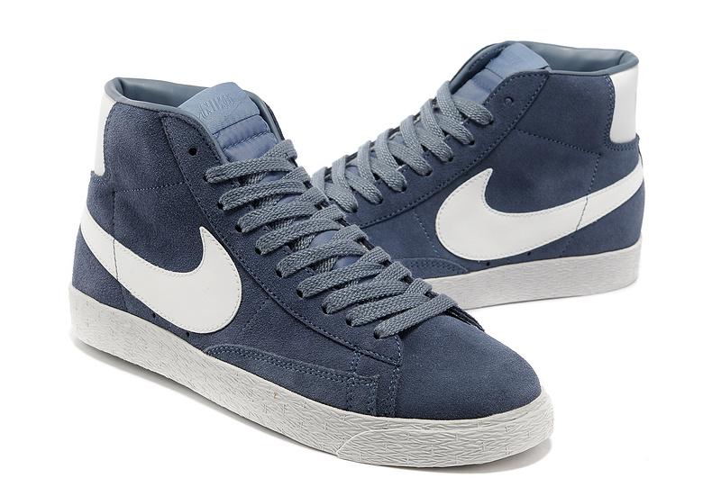 Nike Blazer High Light Blue White Shoes