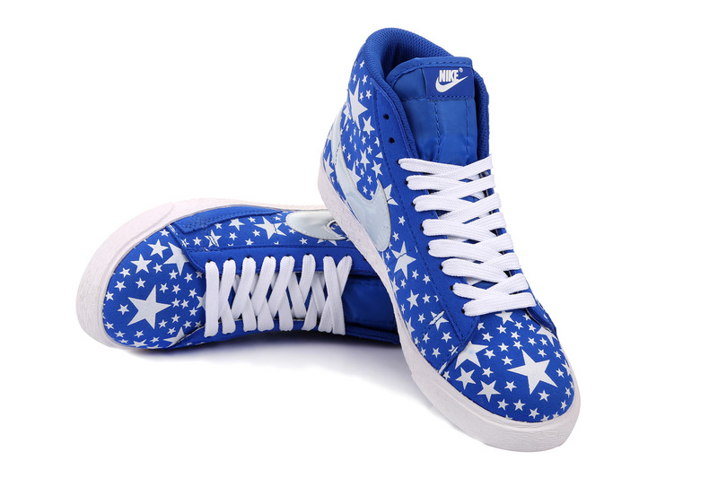 Nike Blazer High Midnight Blue White Stars Women's Shoes