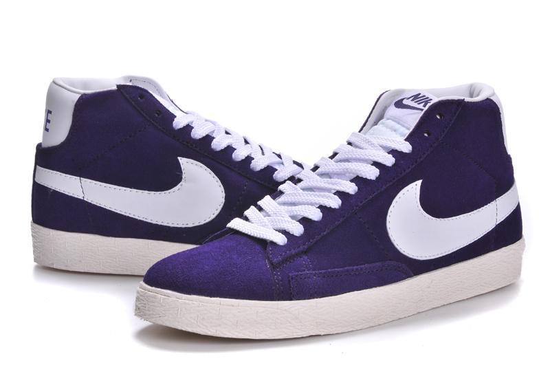 Nike Blazer High Purple White Shoes