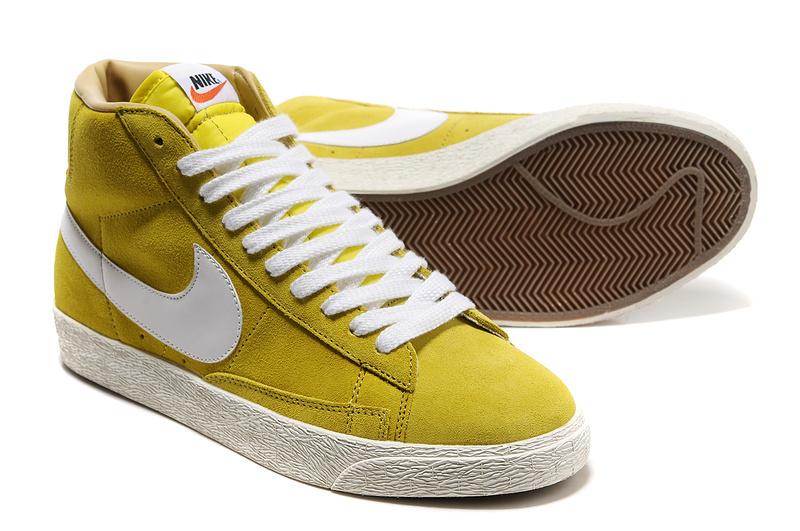 Nike Blazer High Yellow White Shoes