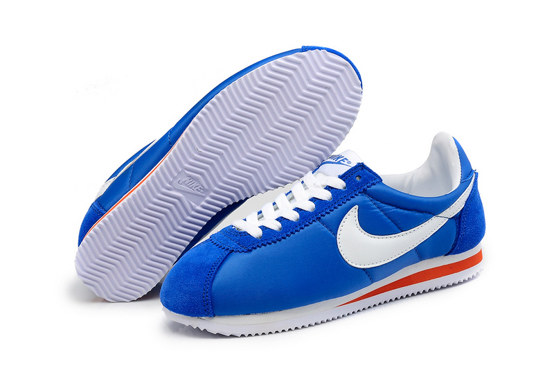 Women Nike Classic Cortez Nylon Blue White Red Shoes