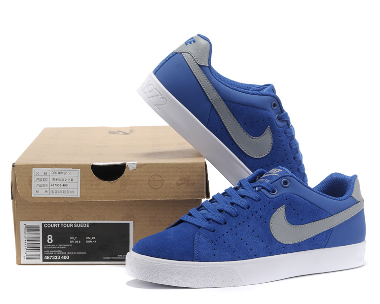 Nike Court Tour 1972 Low Blue Grey Shoes
