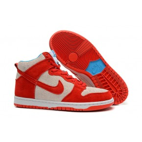 Nike Dunk High SB Red White Shoes