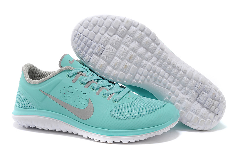 Nike FS Lite Run Shoes Baby Blue Grey For Women