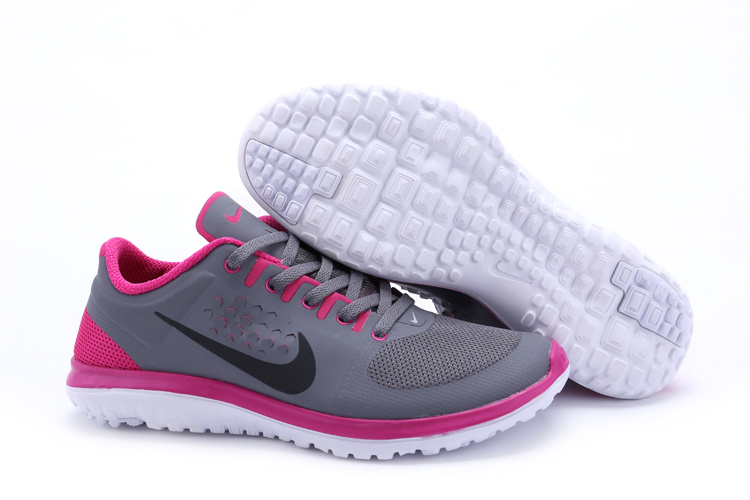 Nike FS Lite Run Shoes Grey Pink For Women