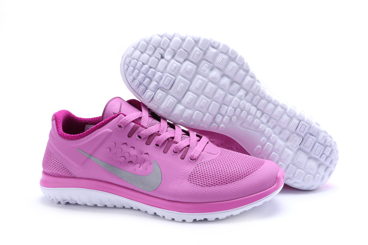 Nike FS Lite Run Shoes Pink Grey For Women
