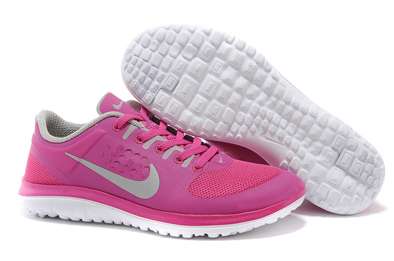 Nike FS Lite Run Shoes Pink Grey White For Women