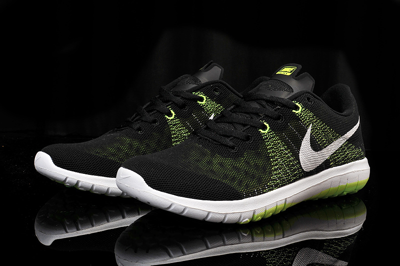 Nike Flex Series Black Green White Running Shoes