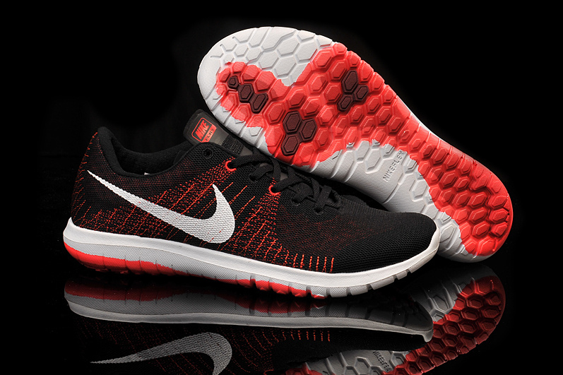 Nike Flex Series Black Red White Running Shoes