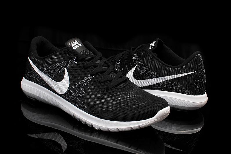 Nike Flex Series Black White Running Shoes