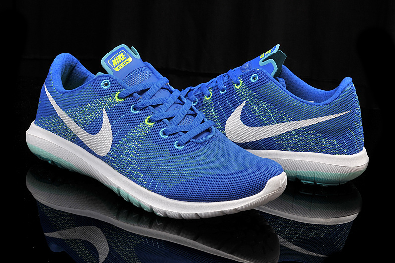 Nike Flex Series Blue White Running Shoes
