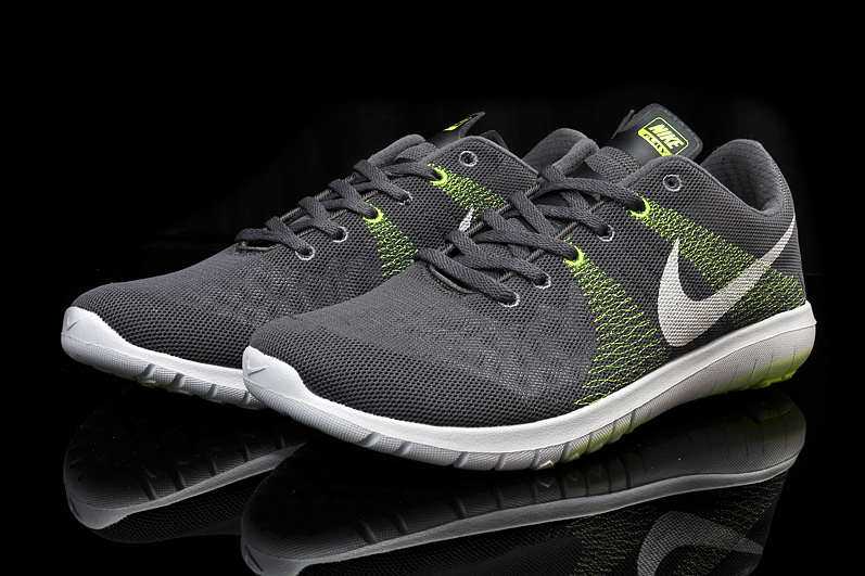 Nike Flex Series Grey Green White Running Shoes