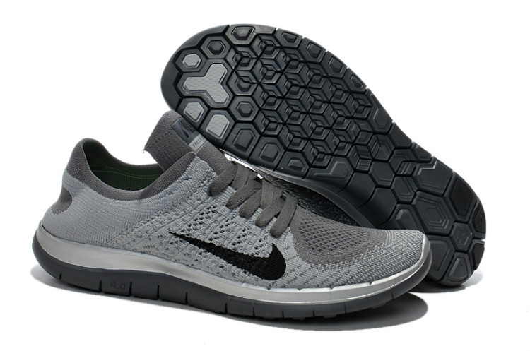 Nike Free Run 4.0 Flyknit Grey Black Running Shoes