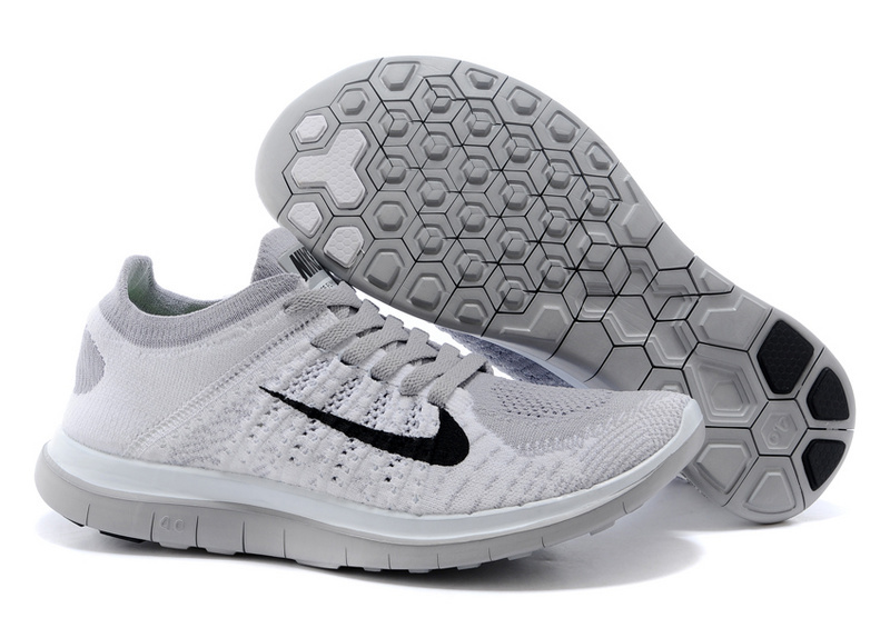 Nike Free Run 4.0 Flyknit Grey Running Shoes