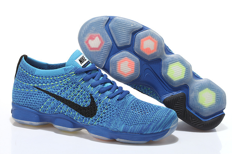 Nike Flyknit Agility Blue Black Running Shoes