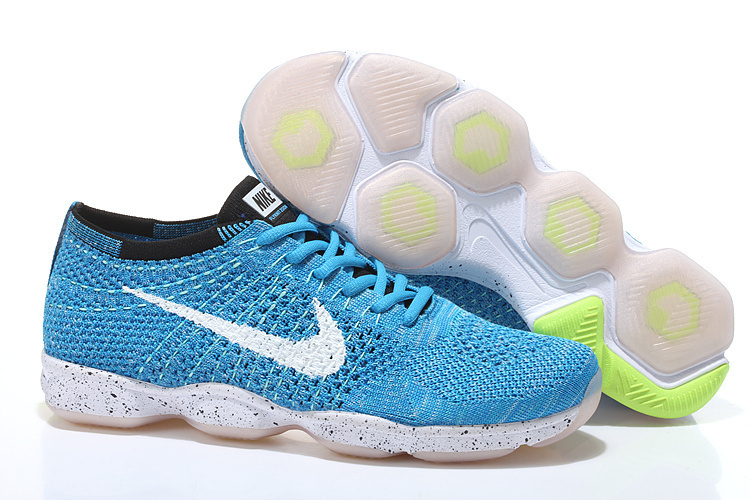 Nike Flyknit Agility Blue White Running Shoes