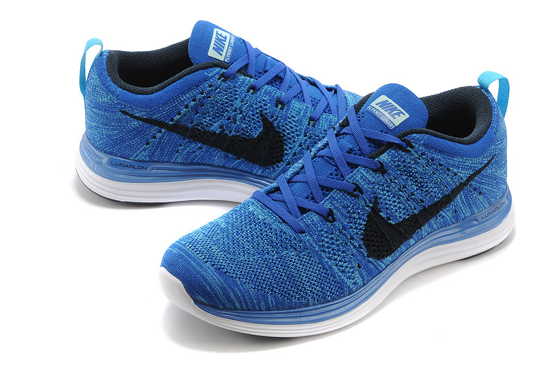 Nike Flyknit Lunar 1 Blue Black Shoes