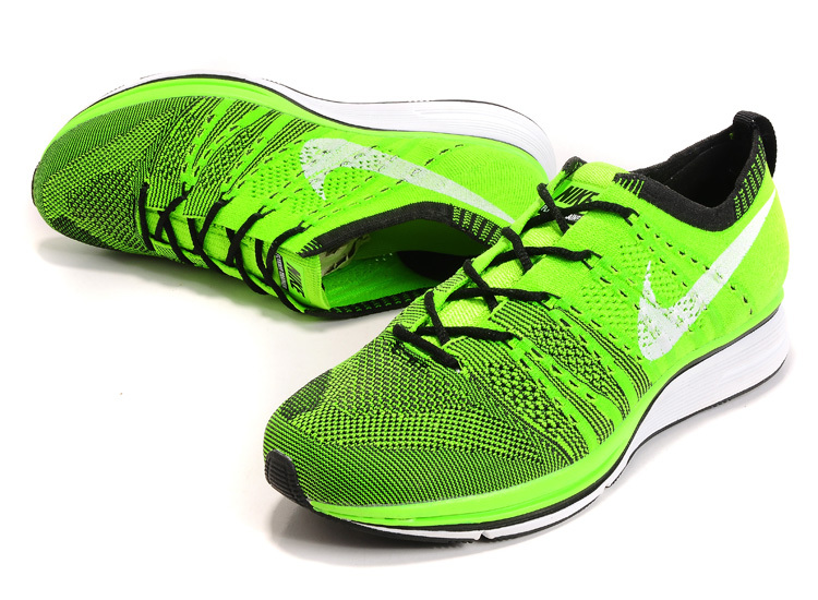 Nike Flyknit Trainer Green Black Shoes