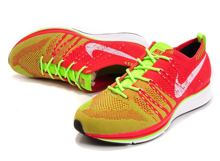 Nike Flyknit Trainer Green Red Shoes