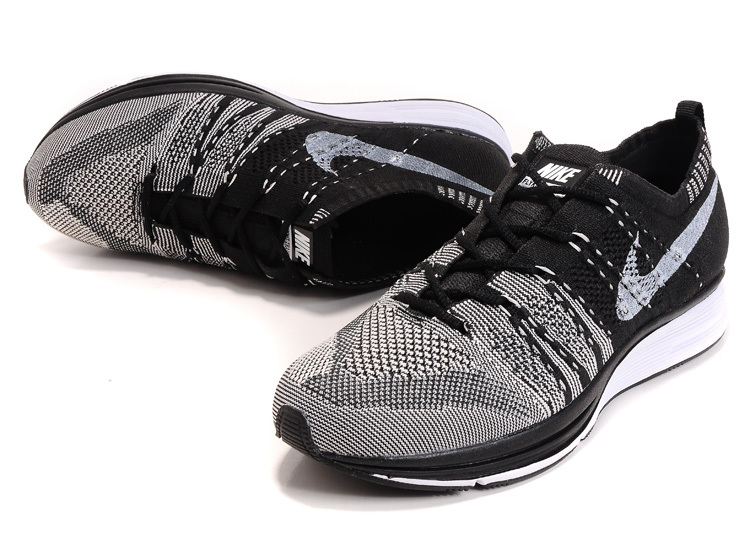 Nike Flyknit Trainer Grey Black Shoes