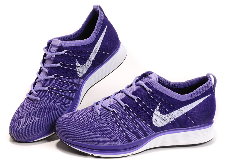 Nike Flyknit Trainer Purple White Shoes