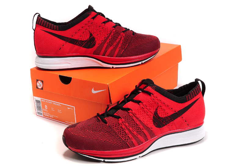 Nike Flyknit Trainer Red Black Shoes