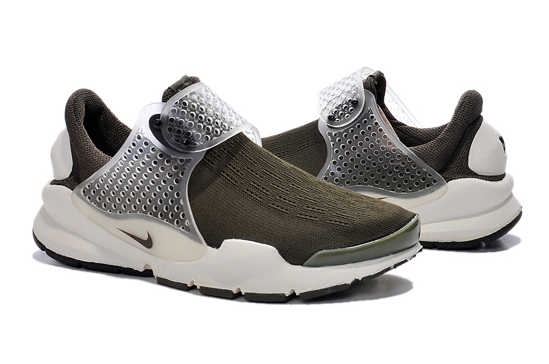 Women Nike Fragment Design Sock Dart SP Grey White Shoes