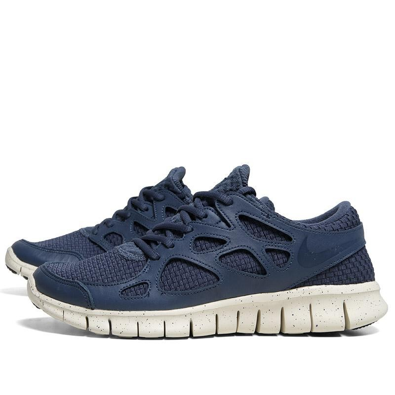 Nike Fre Run 2 Women Blue White Shoes