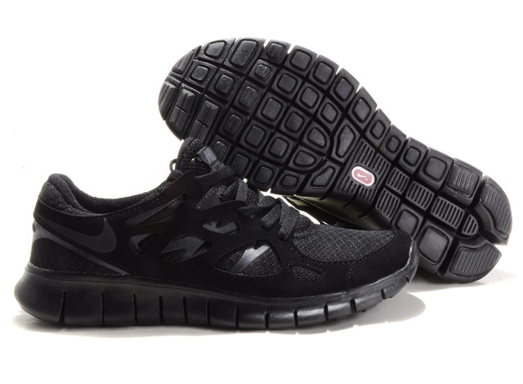 Nike Free Run 2.0 All Black Running Shoes