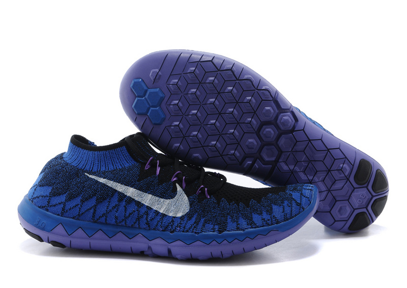 Nike Free 3.0 Flyline Black Blue Purple Running Shoes