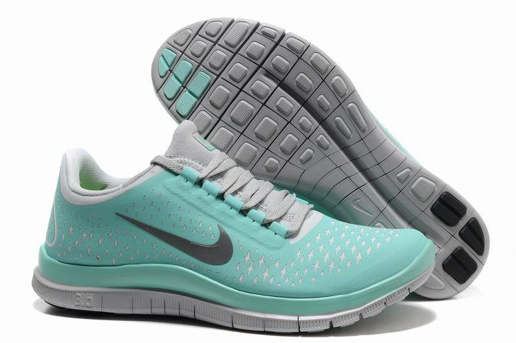Nike Free 3.0 V4 Green Grey Running Shoes