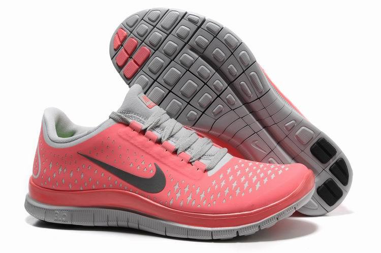 Nike Free 3.0 V4 Pink Grey Running Shoes