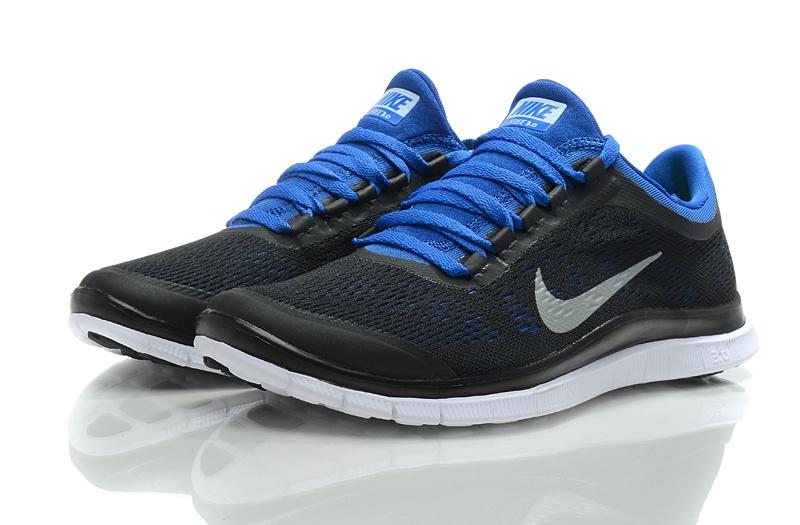 Nike Free Run 3.0 V5 Black Blue Shoes