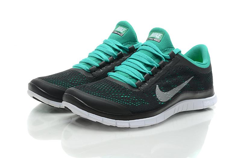 Nike Free Run 3.0 V5 Black Green Shoes