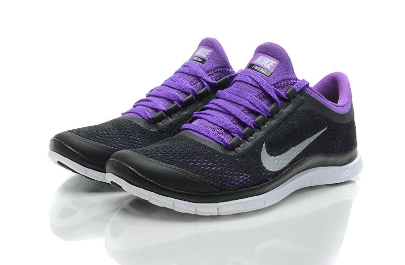 Nike Free Run 3.0 V5 Black Purple Shoes
