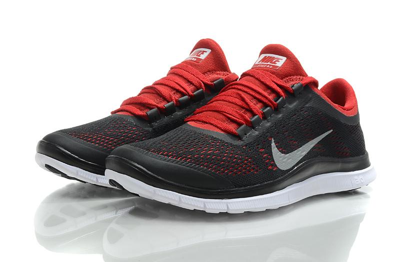 Nike Free Run 3.0 V5 Black Red Shoes
