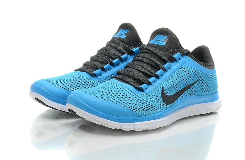 Nike Free Run 3.0 V5 Blue Black White Shoes