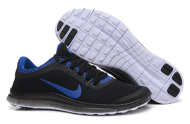 Nike Free Run 3.0 V5 EXT Black Blue Shoes