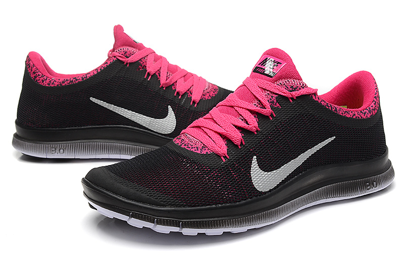 Nike Free Run 3.0 V5 EXT Black Pink Silver For Women