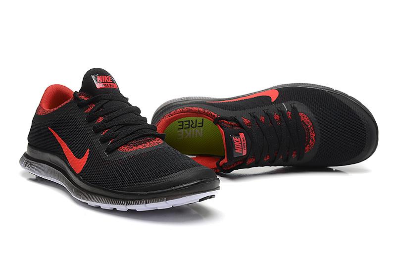 Nike Free Run 3.0 V5 EXT Black Red Shoes