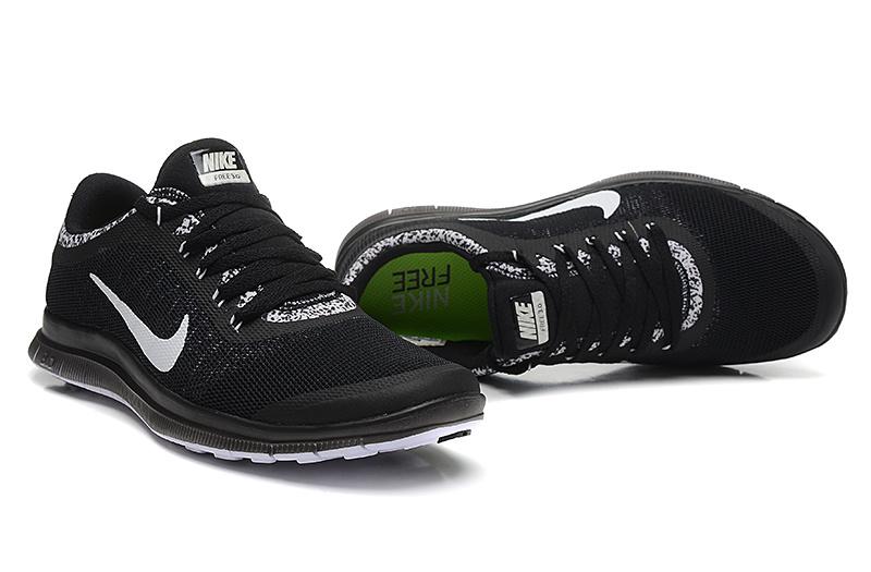 Nike Free Run 3.0 V5 EXT Black White Shoes