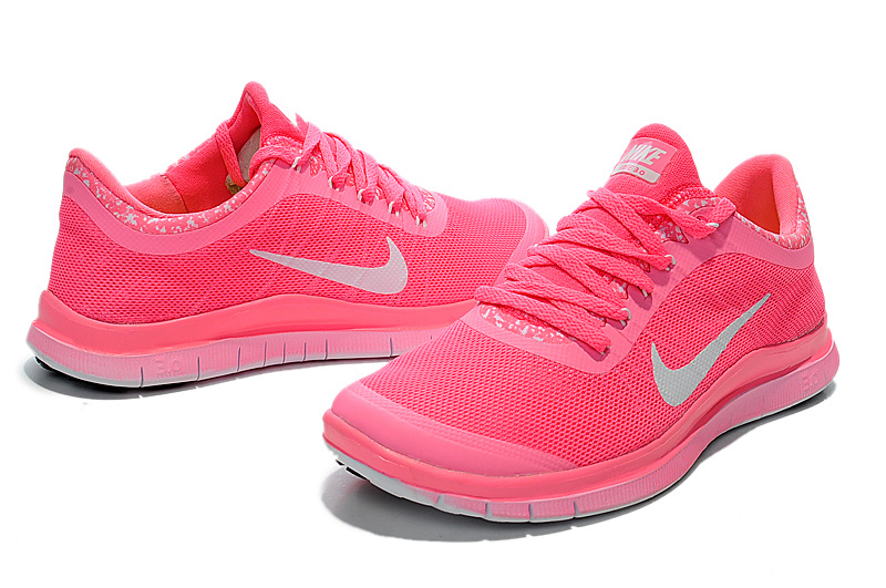 Nike Free Run 3.0 V5 EXT Pink Silver For Women