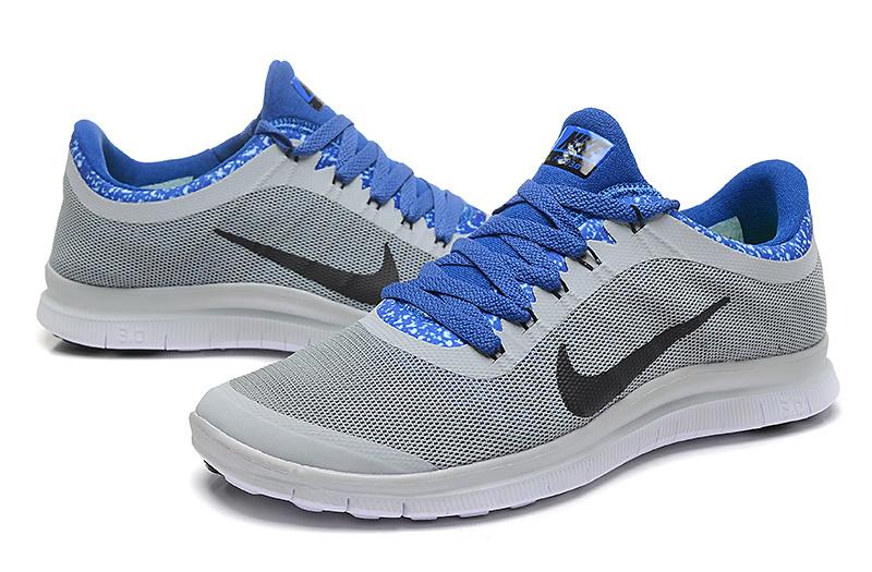 Nike Free Run 3.0 V5 EXT White Blue Black Shoes