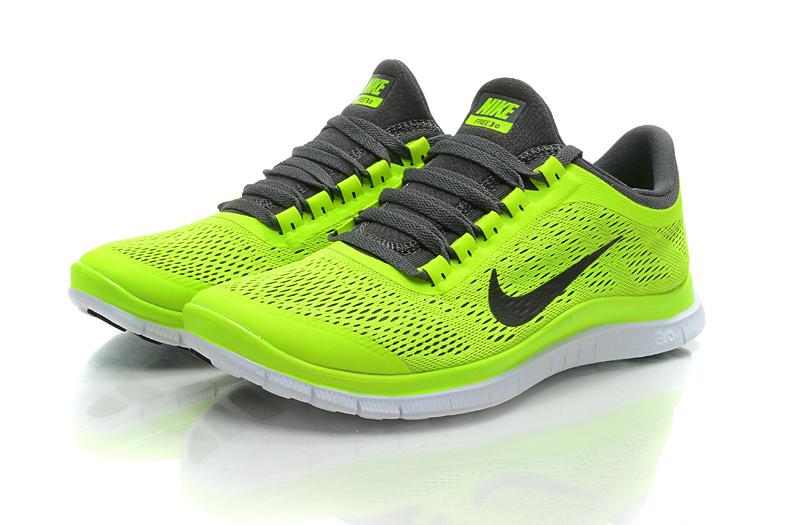 Nike Free Run 3.0 V5 Fluorscent Green Black Shoes